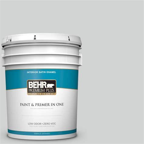 behr premium plus 5 gal ppu26 11 platinum zero voc eggshell enamel interior paint 205005 the