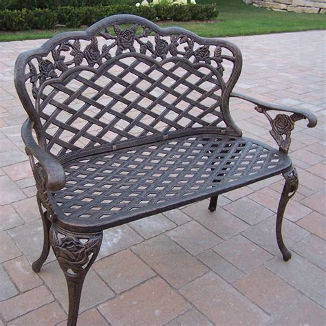 small metal garden bench metal garden benches