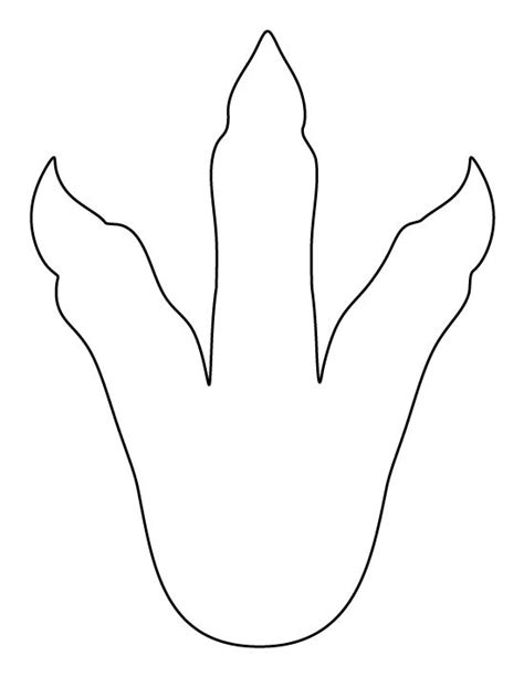 free dinosaur templates dinosaur footprint pattern use the printable pattern for