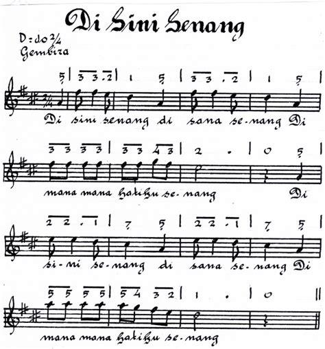 membuat not balok lagu belajar seni not angka lagu disini senang disana senang