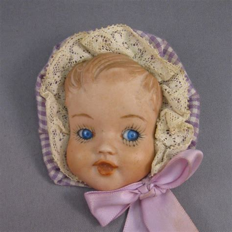 bisque doll 1950s baby doll pin porcelain bisque vintage c 1940