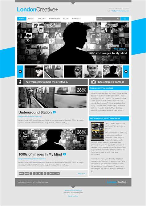 theme blog joomla london creative portfolio blog joomla theme by