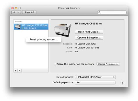 reset all printers on mac how to reset the printing system cocktail blog