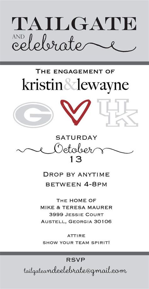 Come With Me Tailgate Ae Invites by Tailgate And Celebrate Engagement By Swirlcreative