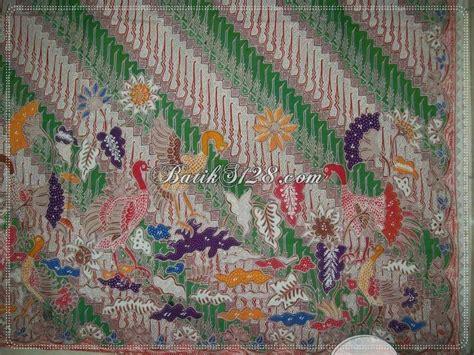 Kain Batik Motif Bunga Bintang Dan Burung Unik Ungu Harga Grosir batik tulis mahal mewah unik motif burung ayam asli