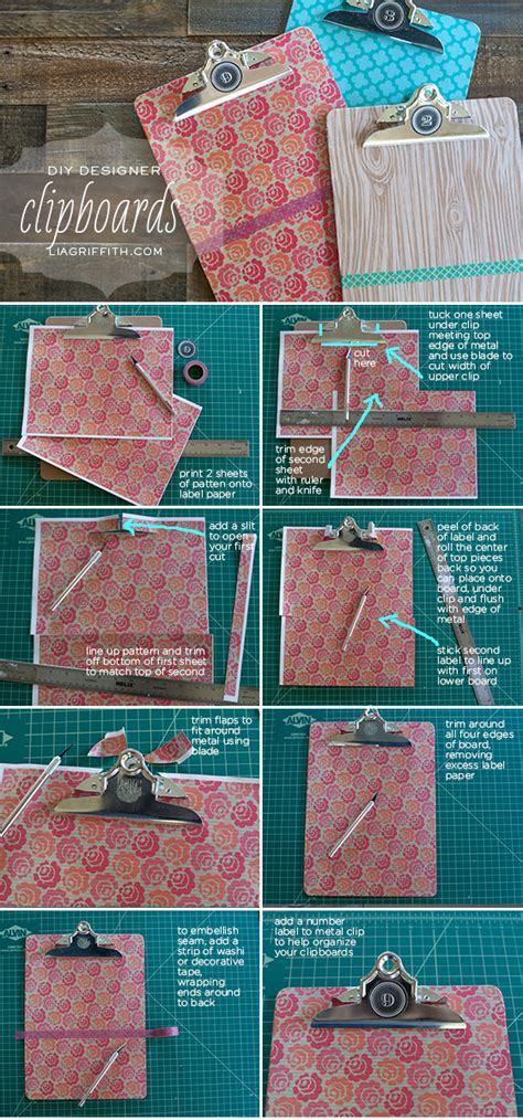 How To Decorate Clipboard by Decorate Your Clipboards With Lable Paper And Washi