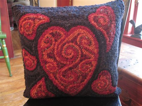 finishing a hooked rug parris house wool works hooked rug pillow finishing just one way