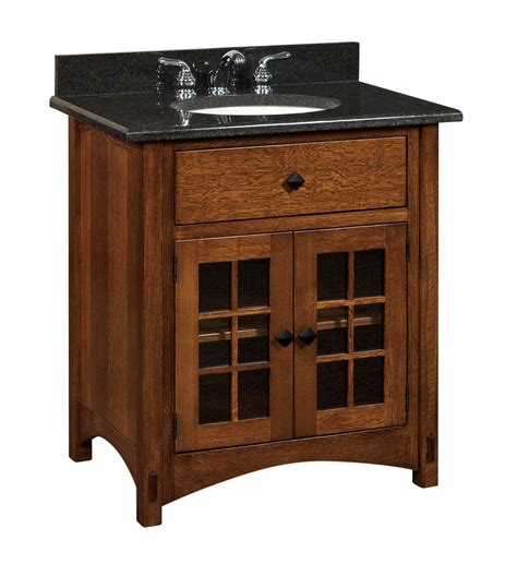 amish bathroom vanities amish bathroom vanity solid wood 33 quot lucern mission sink