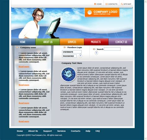 templates for html pages free download free html templates doliquid