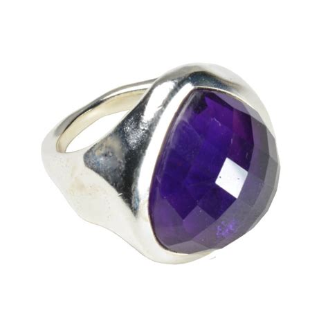 carli ring amethyst and silver by flora bee
