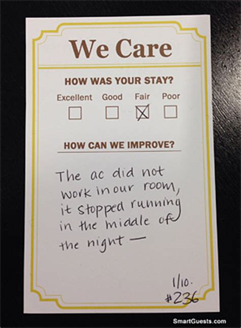 I Hotel Gift Card Reviews - how to prevent hotel guests from leaving unhappy