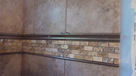 Tile Borders For Kitchen Backsplash by Part Quot 3 Quot How To Tile 60 Quot Tub Surround Walls Installing