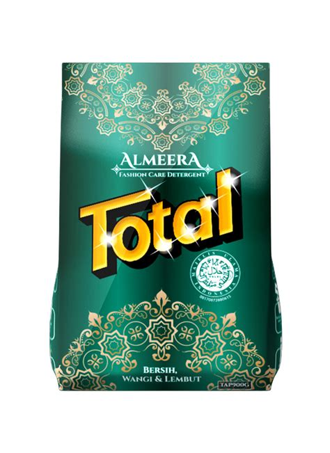 total detergent powder almeera bag 900g klikindomaret