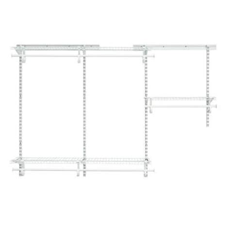 3 Ft Closet Organizer Closetmaid Shelftrack 3 Ft 6 Ft White Wire Closet