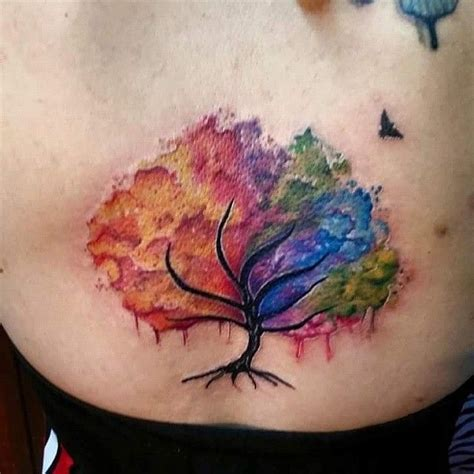 watercolor tattoo life 41 best watercolor tree images on