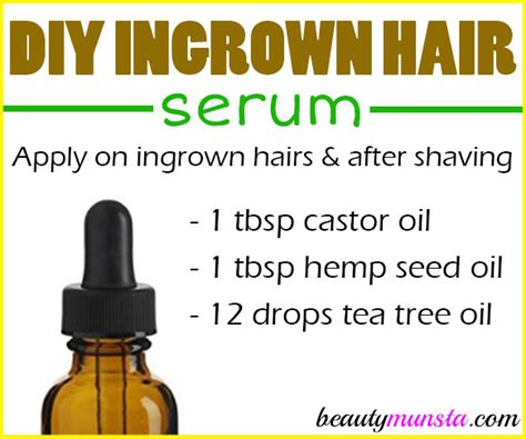 castor oil for removal of ingrown hairs ingrown hair castor oil diy ingrown hair serum recipe