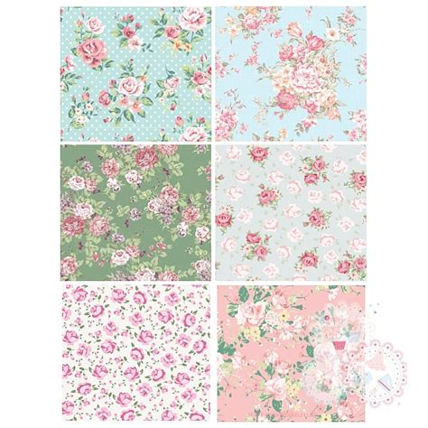 Patchwork Sheets - patchwork sheet of designs x 6 blue green pink