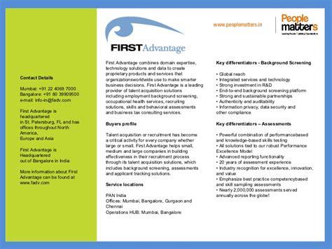 advantage background check sle report talent acquisition service providers slide share