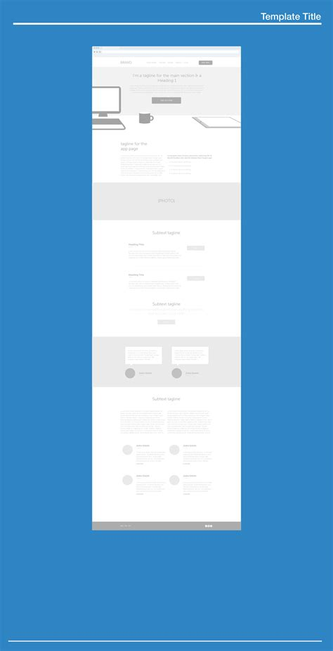960 Grid Ai Wireframe Template Vector Freebie Uxfree Com Illustrator Wireframe Template