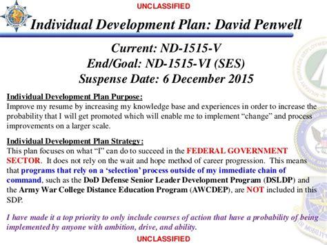 Resume Samples Harvard by Individual Development Plan David Penwell