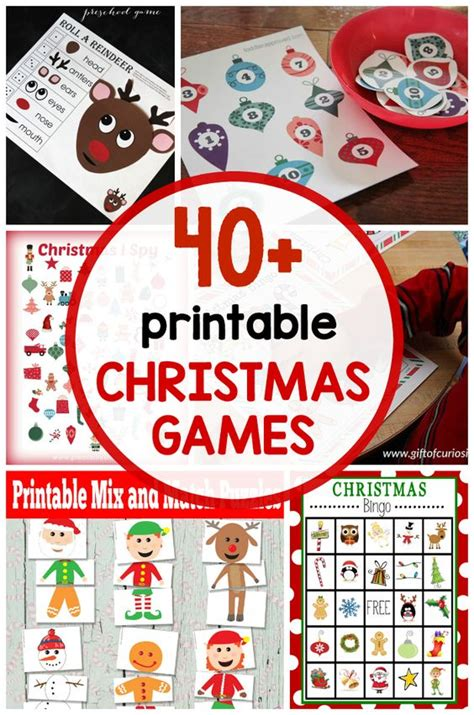 free printable christmas games for the classroom 40 free printable christmas games for kids klassrum