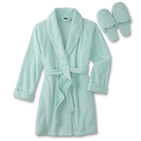 robes and slippers covington s plush robe slippers sears