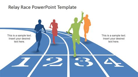 running powerpoint template reaching the finish line powerpoint design slidemodel