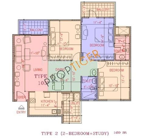 Nagarjuna Greenridge Apartment Adda 1450 Sq Ft 2 Bhk 2t Apartment For Sale In Ncc Nagarjuna