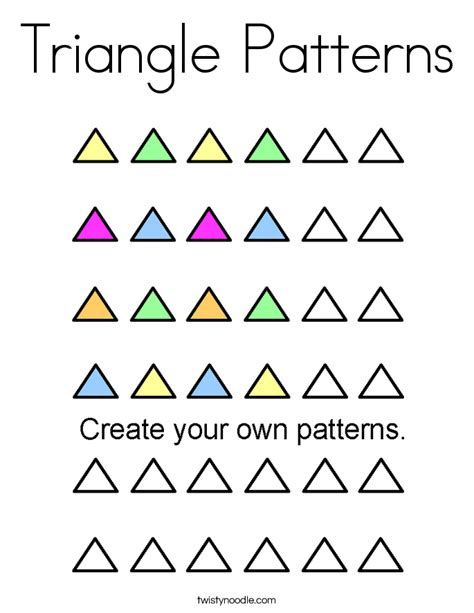 triangle pattern coloring page triangle patterns coloring page twisty noodle
