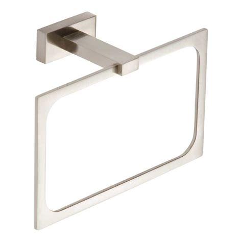 atlas bathroom hardware atlas homewares axel towel ring 8 quot brushed nickel axtr brn