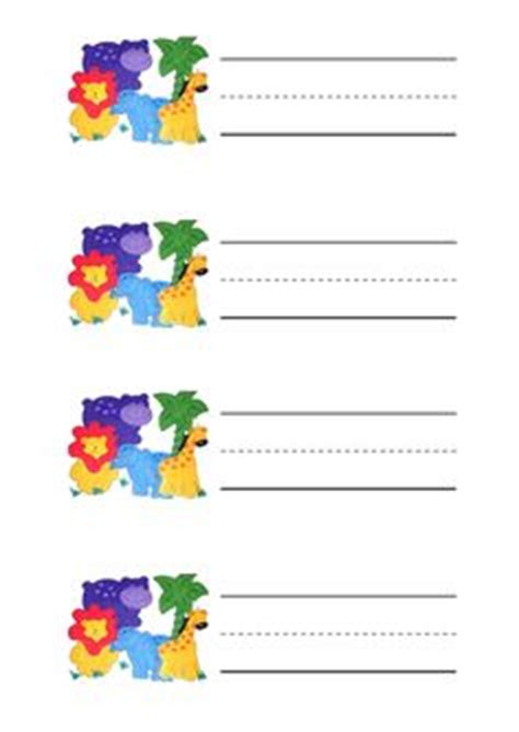 printable zoo name tags jungle theme jungles and schedule cards on pinterest