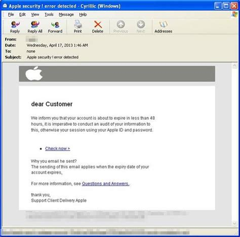 apple email new apple id phishing effort compromises over 100 sites