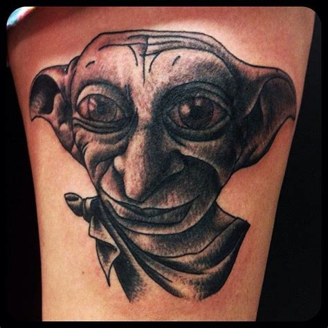 dobby tattoos dobby harrypotter dobby traditional portrait magic