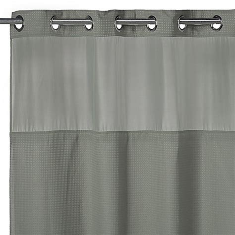 fabric hookless shower curtain buy hookless 174 waffle 71 inch x 74 inch fabric shower