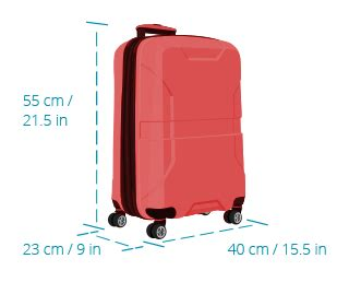 cabin baggage dimensions carry on baggage