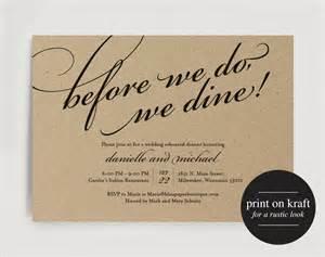 Rehearsal Dinner Templates by Wedding Rehearsal Dinner Invitation Printable Template