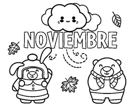 imagenes para colorear noviembre portada noviembre para colorear imagui