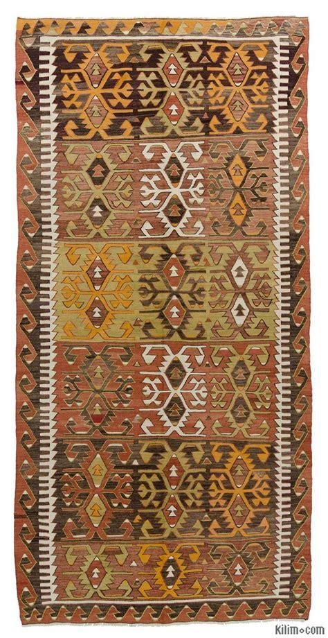 K0015993 Brown Vintage Konya Kilim Rug Kilim Rug