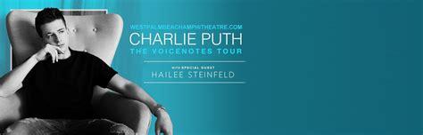 charlie puth voicenotes tour charlie puth hailee steinfeld tickets 1st september