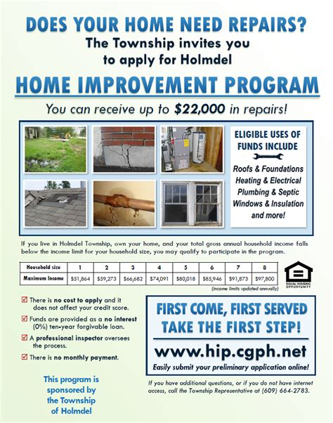 affordable home improvement program holmdel township nj