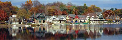 buy a boat philadelphia boathouse row in autumn panoramic