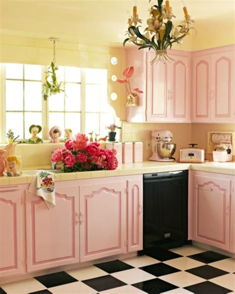 Pink Tiles Kitchen by Shabby Chic Betterdecoratingbible