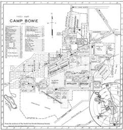 bowie map the fort worth gazette 1917 18 a time in c