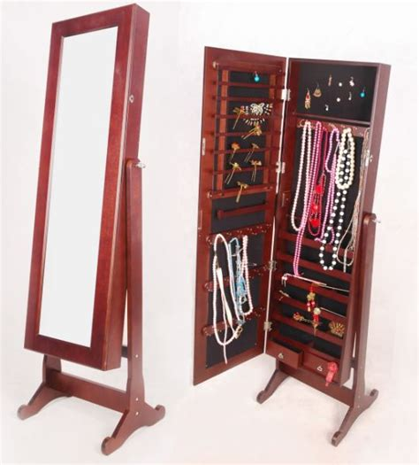 Standing Mirror With Jewelry Cabinet by Other Bedroom Free Standing Mirrored Jewelry Cabinet