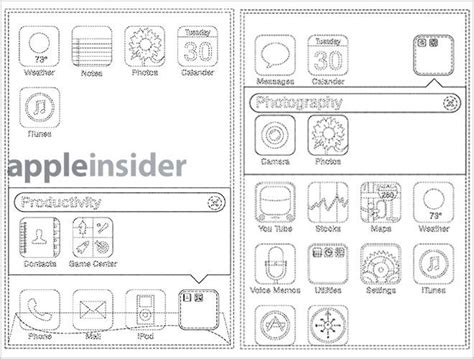 icon design patent apple granted patent for ios app folders and jiggle mode