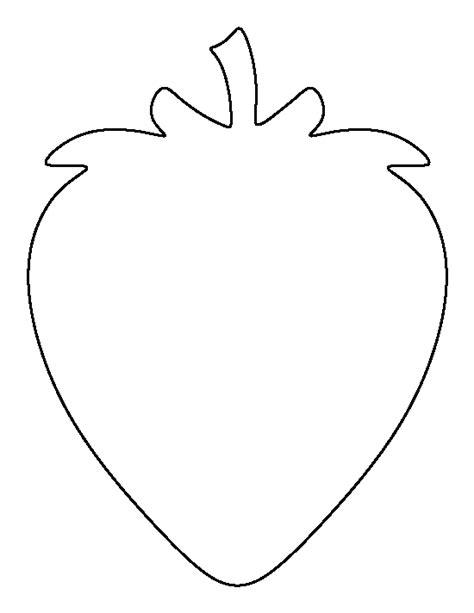 Strawberry Template strawberry pattern use the printable outline for crafts