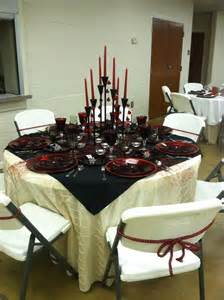 Black And Red Table Settings - black and red formal table setting table settings pinterest
