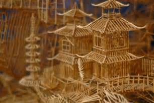 Toothpick House by Amazing Toothpick Sculptures