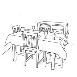Dining Room Table Clipart Black And White Coloring Pages Dining Room