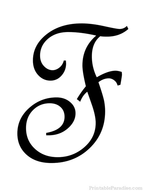printable cursive letter f print letter f in cursive writing